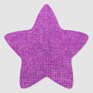 woven structure neon pink star stickers