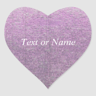 woven structure pink heart sticker