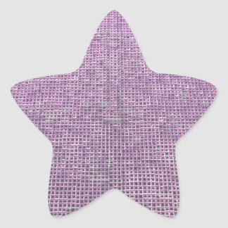 woven structure pink stickers