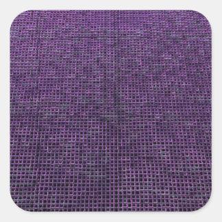 woven structure purple square stickers