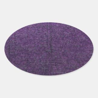 woven structure purple sticker