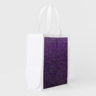 woven structure purple reusable grocery bag