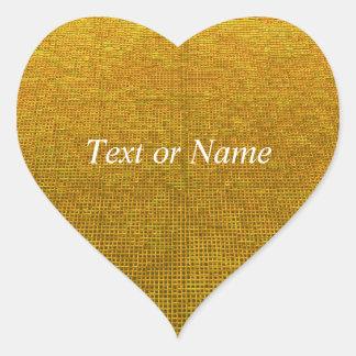woven structure yellow heart sticker