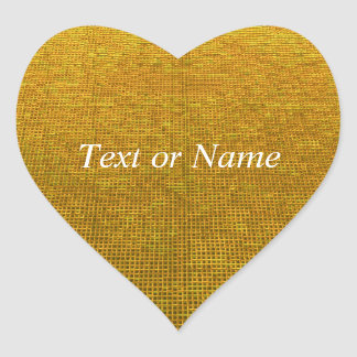 woven structure yellow heart sticker