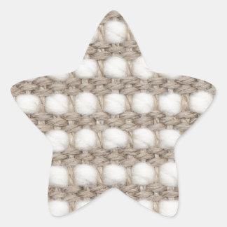 Woven texture star sticker