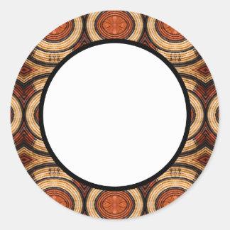 Woven Trivet Pattern Round Sticker