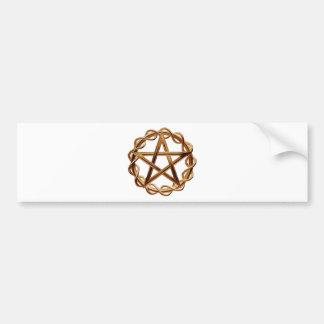 Woven Wicca Pentagram Bumper Sticker