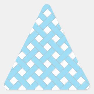 Woven/Wicker-look Pattern in Aqua and White Sticker