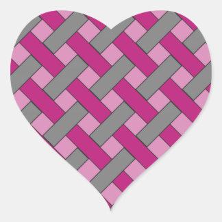 Woven/Wicker-look Pattern: Pink, Gray and Black Sticker