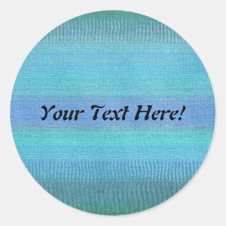 Woven Wonders Blue Round Sticker