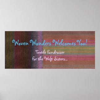 Woven Wonders Custom Banner Multicolor Poster