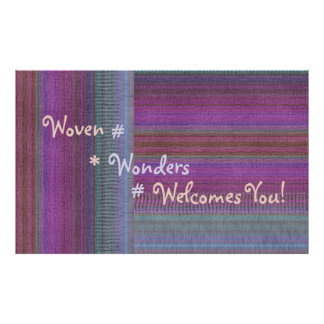 Woven Wonders Custom Banner Purple2 Poster