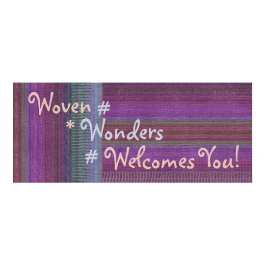Woven Wonders Custom Banner Purple2 Poster