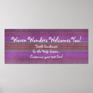 Woven Wonders Custom Banner Purple Poster