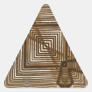 Woven Wood Geometric Triangle Sticker