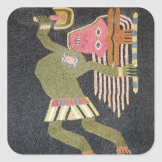Woven wool dancer with baton, Paracas tribe Stickers