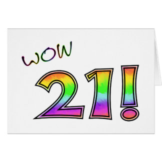 WOW 21ST BIRTHDAY CARD