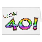 WOW 40TH BIRTHDAY CARD