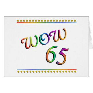 WOW 65th Birthday - Funny Card