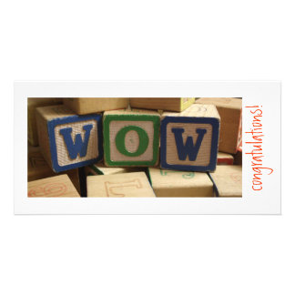 WOW blocks Congratulations Custom Photo Card
