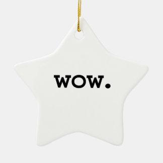 wow. ceramic star decoration