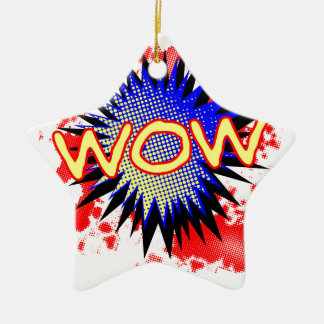 Wow Comic Exclamation Ceramic Star Decoration