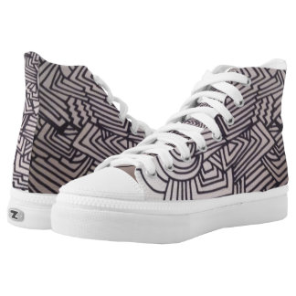 WOW!!! FUNKY, ABSTRACT DESIGN on SNEAKERS!! High Tops