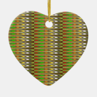 WOW Green Sparkle Wave pattern by NAVIN JOSHI gift Christmas Tree Ornament