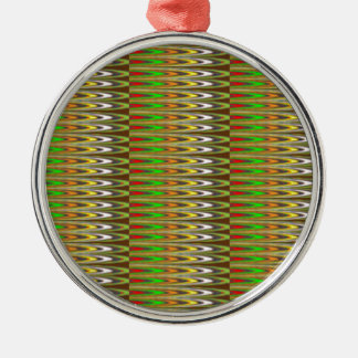 WOW Green Sparkle Wave pattern by NAVIN JOSHI gift Ornaments