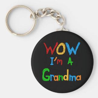 WOW I m a Grandma T-shirts and Gifts Keychain