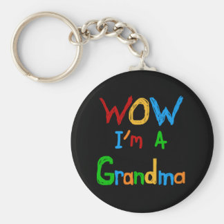 WOW I m a Grandma T-shirts and Gifts Keychain