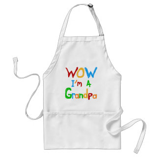 WOW I m a Grandpa T-shirts and Gifts Apron