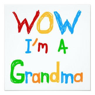 WOW I'm a Grandma T-shirts and Gifts 13 Cm X 13 Cm Square Invitation Card