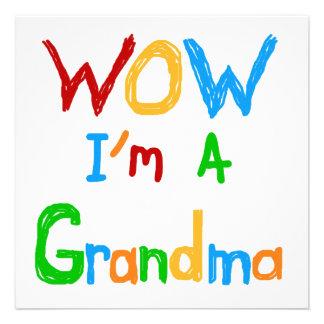 WOW I'm a Grandma T-shirts and Gifts Invitation