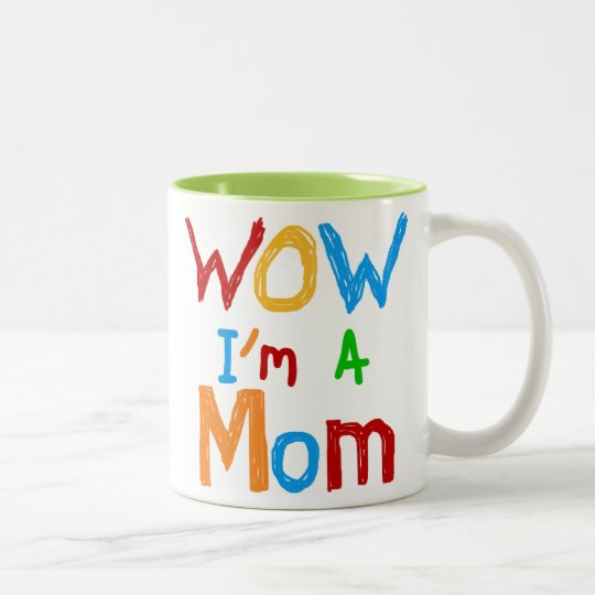 WOW I'm a Mum T-shirts and GIfts Two-Tone