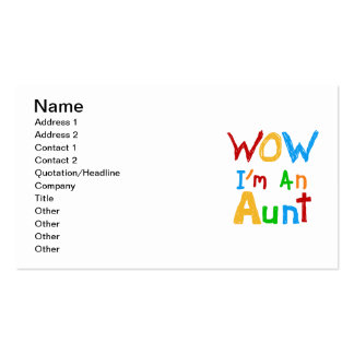 WOW I'm an Aunt T shirts and Gifts Pack Of Standard Business Cards
