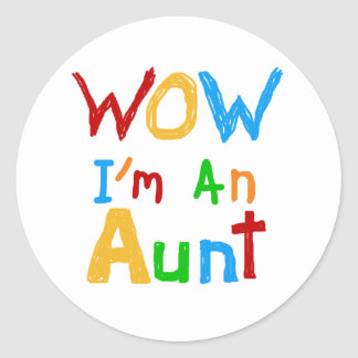 WOW I'm an Aunt T shirts and Gifts Sticker