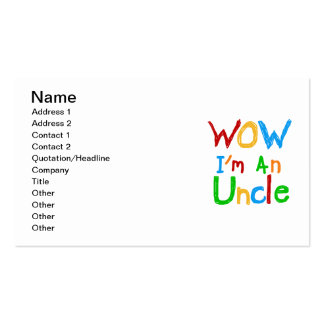 WOW I'm an Uncle T-shirts and GIfts Business Card