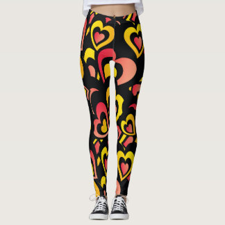 Wow Loving Hearts Custom Leggings