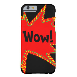 Wow Pop Pow Comic Art Super Heroes Word Bubble 2 Barely There iPhone 6 Case