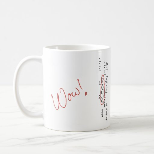 Wow Signal SETI Message Coffee Mugs