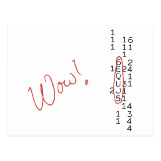 Wow Signal SETI Message Postcard
