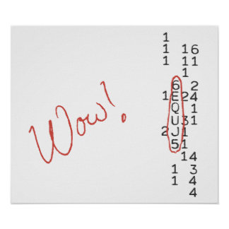 Wow Signal SETI Message Poster