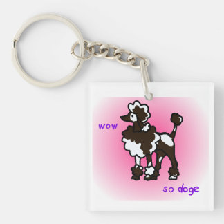 Wow so poodle keychain