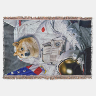 Wow such comfy very space doge throw blanket