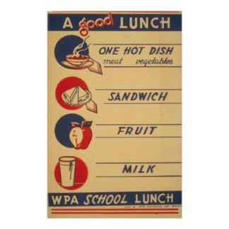 WPA - A Good Lunch 14 Cm X 21.5 Cm Flyer