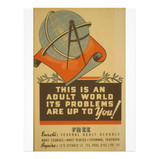 WPA - Adult World 21.5 Cm X 28 Cm Flyer