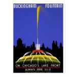 WPA - Buckingham Fountain Postcard