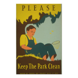 WPA - Keep the Park Clean Personalized Flyer