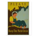 WPA - Keep the Park Clean Postcards